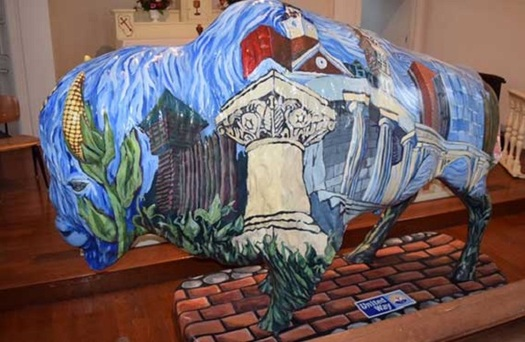 Bison that have been locally decorated are being placed all around Indiana ahead of the bicentennial celebration. (United Way)
