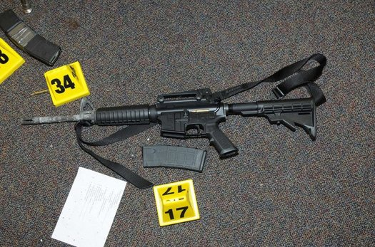 The Bushmaster AR-15 rifle used at Sandy Hook Elementary School. (Newtown Police/Wikimedia Commons)