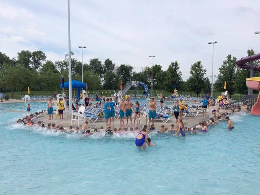 The Altoona Campus Aquatic Park is one of several locations participating in the World's Largest Swimming Lesson. (Iowa Department of Public Health)