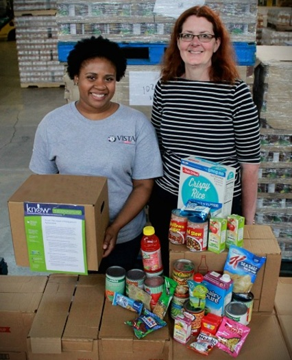 Japera Benson and Carol Whitmore work on Summer Meal Programs in Ohio. (Ohio Association of Foodbanks)