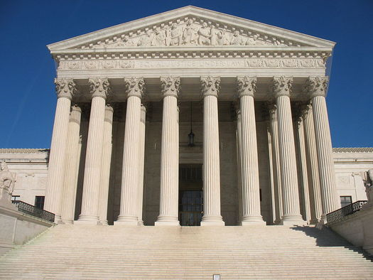 A tie ruling in the U.S. Supreme Court doesn't set a legal precedent, but immigrants' rights advocates say it is a setback for many trying to remain in this country. (Kjetil Ree/Wikimedia Commons)