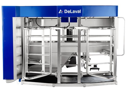 Robotic milking systems are leading to happier, healthier cows. (DeLaval.com)