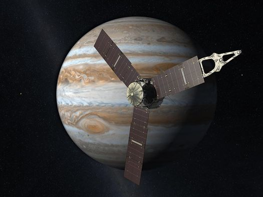 Juno is the first spacecraft to use only solar power so far from Earth. (NASA/JPL/Wikimedia Commons)