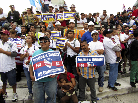 Latinos rally at the U.S. Capitol in Washington, D.C., to demand immigration reform. (coast-to-coast/iStockphoto)