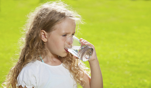 A new study shows children will drink more water if it's served cold, and in a glass. (CDC)