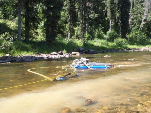 The U.S. Forest Service will allow small-scale, suction-dredge gold mining on the South Fork of the Clearwater River this summer. (Idaho Conservation League)