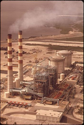 The Turkey Point power station is the subject of a federal Clean Water Act lawsuit. (Fred Ward/U.S. National Archives and Records Administration via Wikimedia Commons)