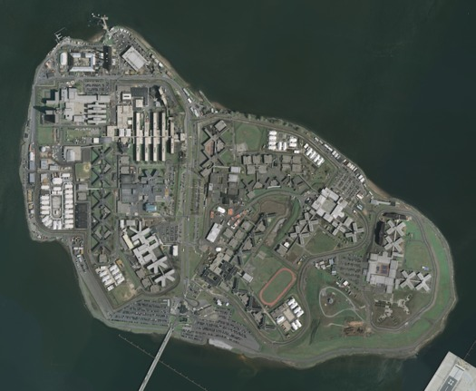 Rikers Island, where many of the 16- and 17-year-olds arrested in New York City wait for trial. (USGS/Wikimedia Commons)