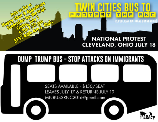 At least 50 Minnesota activists are heading to the RNC in Cleveland to join a national protest over Donald Trump's immigration plans. (MIRAC)