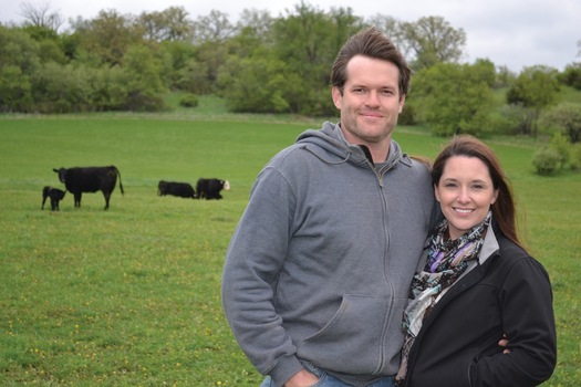 Farmers Luke and Liana Tessum graduated from the 2006-2007 Farm Beginnings course, where they learned about business and marketing as well as sustainable farming practices. (Land Stewardship Project)