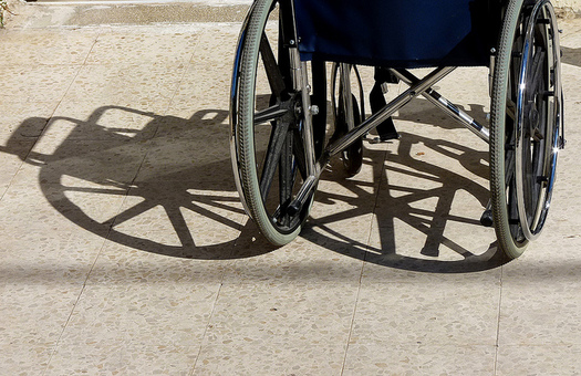 State and federal law requires polling places to accommodate people with disabilities. (zeevveez/Flickr)
