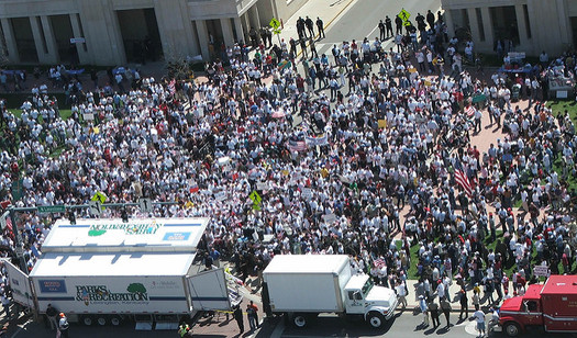 """The """"Community Unity to Stop the Hate March"""" hopes to fill Cleveland's Public Square.(Brit Selvitte/Flickr)"""