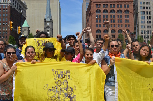 Community organizers from across the country are participating in the People's Caravan. (Grassroots Global Justice)