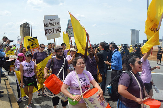 A self-described Toxic Tour is gaining support from the Bay State and beyond at the Democratic National Convention as activists call attention to the need for action on pollution and climate change. (Grassroots Global Justice Alliance)