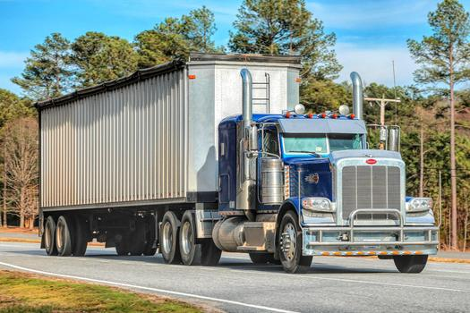 California's truck traffic soon may generate power through vibration sensors in the road. (Dodgerton Skillhause/morguefile)