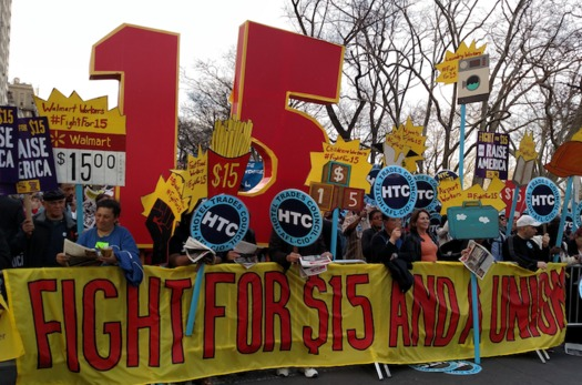 The 'Fight for $15' movement has mobilized millions of low-wage workers. But how many will vote, and for whom, in November? (All-Nite Images/Flickr)