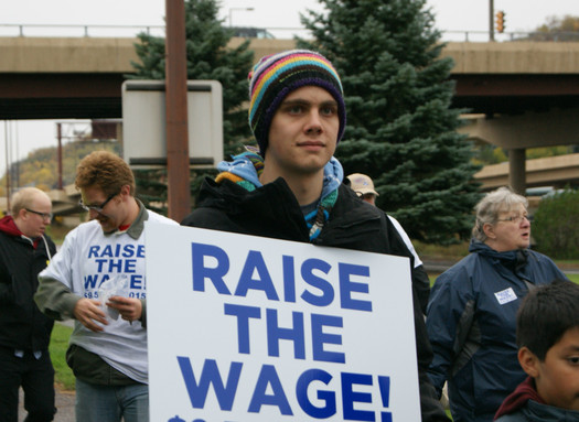 Minnesota workers rally for a minimum wage raise in March 2013. (Minnesota AFL-CIO)