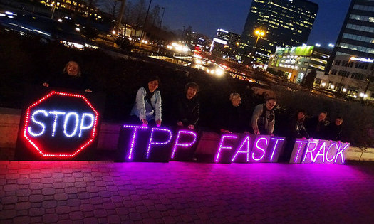 The TPP trade deal involves 12 nations along the Pacific Rim, which together make up 40 percent of world trade. (Backbone Campaign/flickr)