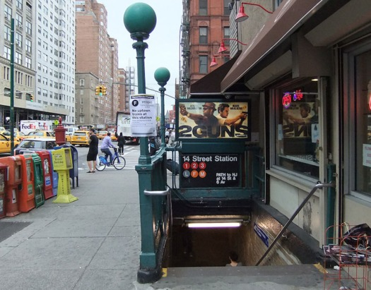 Just over 80 percent of New York City subway stations are not wheelchair accessible. (Harrison Leong/Wikimedia Commons)