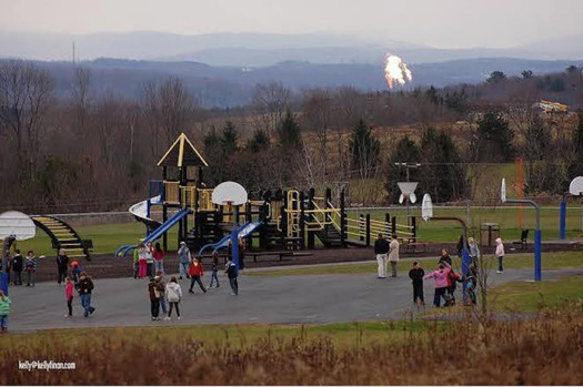 People living near fracked gas wells are four times more likely to experience an asthma attack. (Kelly/ProtectOurChildren.org)
