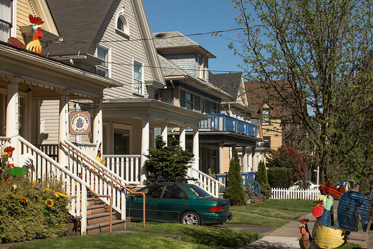 The rate of white home ownership is nearly 50 percent higher than the black home ownership rate in Oregon. (Derek Adour/Flickr)