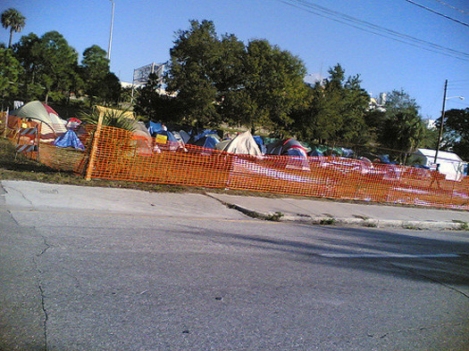 Social-service groups say evicting people from Des Moines' homeless camps simply moves the problem instead of solving it. (tom stovall/Flickr)