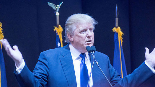 Republican nominee Donald Trump holds a fundraiser in Seattle on Tuesday. (Mark Nozell/Wikimedia Commons)