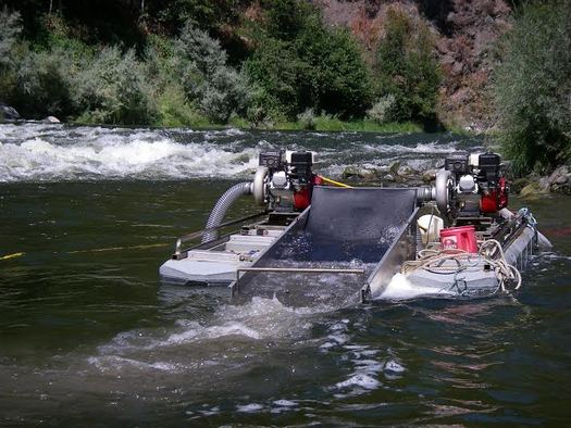 The ban on suction dredge gold mining in California rivers will remain in place after miners lost a suit at the California Supreme Court. (Klamath Riverkeeper)