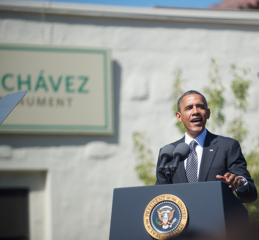 President Barack Obama at the Cesar E. Chavez National Monument in 2012. (The City Project)