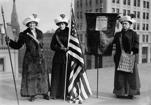 Nearly a century after winning the right to vote, women still fight for equal rights. (Library of Congress)