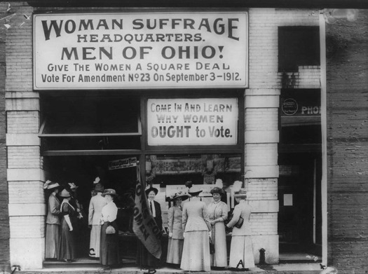 Women are still trying to get a square deal decades after winning the right to vote. (Wikipedia)