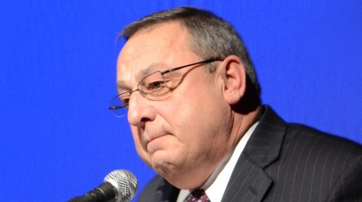 Gov. Paul LePage says he needs more time before he can reveal the contents of a mugshot book he claims to keep on drug dealers in Maine. ((Matt Gagnon/Wikipedia)