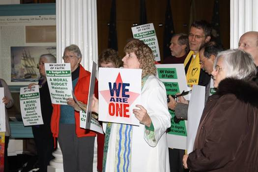 "Advocates for a ""moral economy"" will be holding an action today in Concord, just a day before voters head to the polls for the primary election. (NH Voices of Faith)"