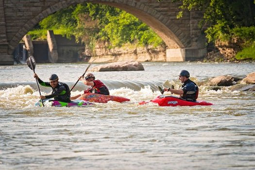 Elkader�s Whitewater Park and River Access was recognized as a Smart Growth Project in 2015.  (Elkader Whitewater Project)