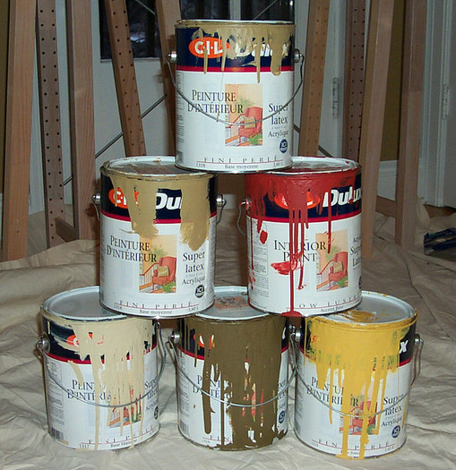 Products like household paints can be harmful to the environment when they are dumped down the train or in the trash. (Peter Burka/Flickr)