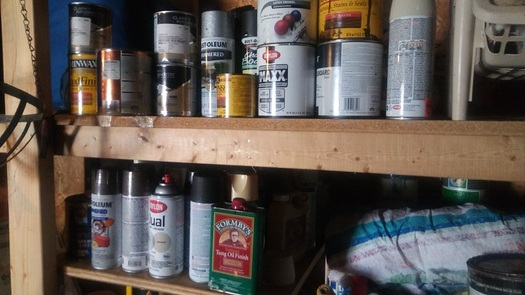 Paint and other potentially hazardous products should never be disposed of down a drain or in a trash can. (Greg Stotelmyer)