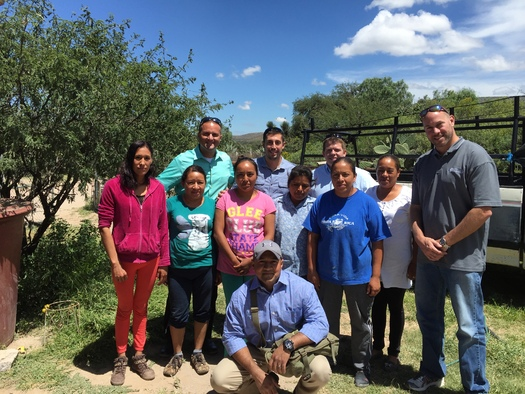 Karban (pictured in the center, back row) was one of 24 officers from Mecklenburg and Union counties to travel to Mexico in September as part of a program coordinated by Go Global NC. (Karban)
