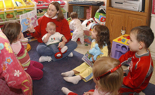 Child care and housing make up almost half of the household survival budget for a family of four in Connecticut. (USMC/Wikimedia Commons)