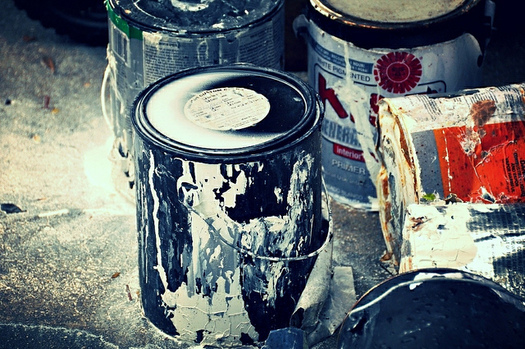 Paint and other potentially hazardous products should never be disposed of down a drain or in a trash can. (faungg's photos/Flickr)