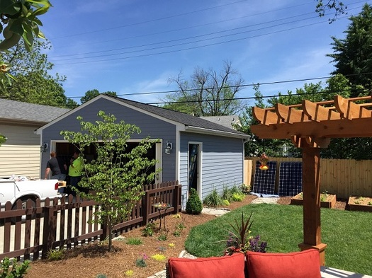 With 18 solar panels on his garage and house, Robert Chatham's Louisville home is one of many that will be on Saturday's Kentucky Solar Tour. (Robert Chatham)