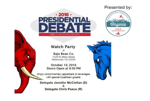 The organizers hope this debate watch party in Richmond sparks an open, constructive discussion about the future of Social Security. (AARP Virginia)