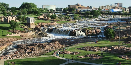 Sioux Falls gets high marks for livability from its residents over age 50 in a new survey. (Wikimedia Commons)