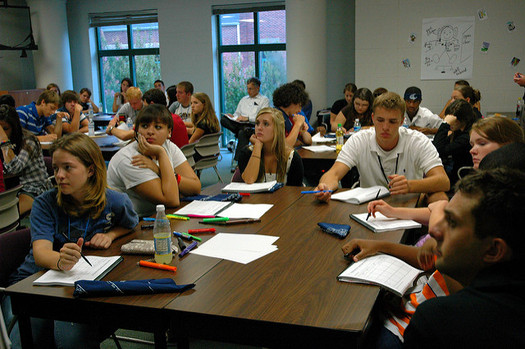 The antics, accusations and scandals of the presidential campaigns are creating heated conversations in some classrooms. (Lead Beyond/Flickr)