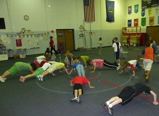 Many Iowa parents support daily physical education as part of their child's school curriculum. (U.S. Dept. of Agriculture)