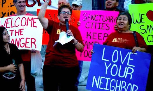 Immigration advocates say they are planning to disrupt ICE raids. (sanctuaryphiladelphia.org)