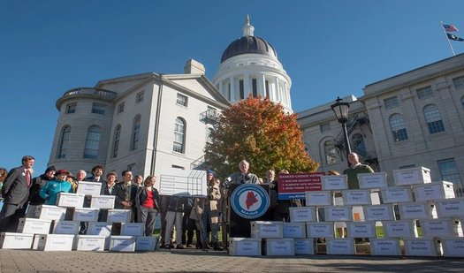 With the passage of Question 5, Maine will be the first state to hold ranked-choice elections, but Gov. LePage now wants to change the way questions get onto the ballot. (Responsible Mainers/Facebook)