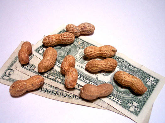 """Still working for peanuts? The Fight for $15 movement is set to rally tomorrow with a """"National Day of Disruption"""" in 340 cities, including L.A. and San Francisco. (cohdra/Morguefile)"""