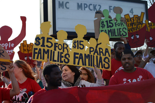 Since the Fight for $15 began, 19 million workers have won raises totaling $61.5 billion. (Fibonacci Blue/Flickr)