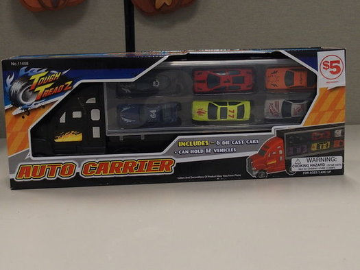 The ToughTreadz Auto Carrier is one of a dozen recalled toys recently being offered for sale online, according to a new report. (Office of Gov. Mario Cuomo)