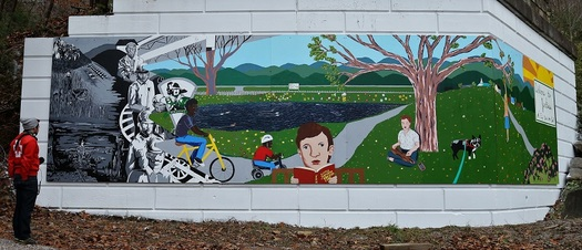 One town's wall mural illustrates the power of public art. (Lacy Hale)